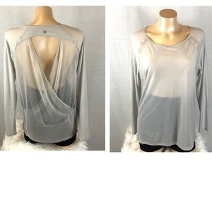 Lululemon Ling Sleeve Top With Open Back